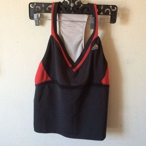adidas Tops - Adidas XL Workout Tank Top Black & Red